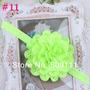 Tiara Fita Faixa Bebês De Chiffon Verde Neon Flor Importado