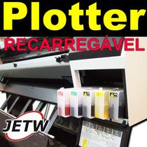 Cartucho Recarregável Hp80 Designjet Plotter 1050c 1055 Bulk