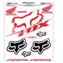 Adesivo Refletivo Moto Capacete Carro Honda Fox Cr Crf Trail