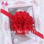 Tiara Fita Faixa Bebês De Chiffon Vermelha Flor Importado