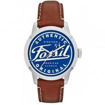 Relógio Fossil Fs4897 Pulseira Em Couro Garantia No Brasil