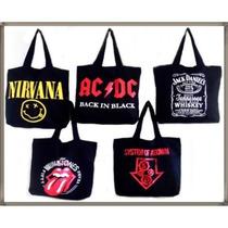 Bolsa Sacola De Rock Várias Bandas