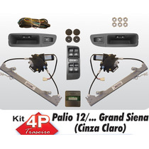Kit Vidro Eletrico Palio Novo Grand Siena Traseiro Sensoriza