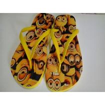 Chinelo Personalizados Minions Infantil