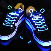 Cadarço Led Style Luminoso Neon Para Tênis- Azul (par)