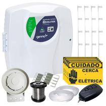Kit Cerca Elétrica Residencial P/ 90 Metros Completo Genno