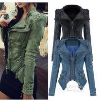 Jaqueta Casaco Jeans Feminino Fashion Moda Inverno 2015