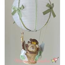 Luminária Lustre Balão Safari Selva Bebê Ou Infantil