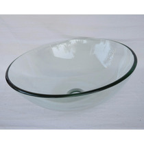 Cuba De Vidro Incolor Para Banheiro - Redonda - 42x42 Cm
