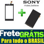 Kit Tela Touch + Display Lcd Sony Xperia J St26 St26a St26i