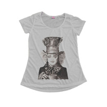 Blusinha Camiseta T-shirt Feminina Alice Wonderland