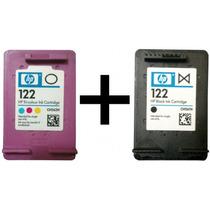 Kit Com 2 Cartuchos Hp 122 Preto + Hp 122 Color + Snap