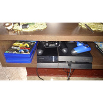 Ps4 Playstation 4 + 4 Games + 2 Controles - Completo