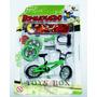 Miniatura Bicicleta (bike) De Dedo - Bicicleta Verde E Skate