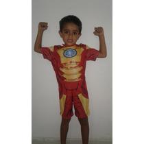 Fantasia Infantil Homem De Ferro Com Máscara