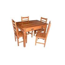 Ca16374 - Jogo Mesa Em Madeira De Demolição C/ 4 Cadeiras