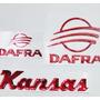 Kit Adesivo Alto Relevo 3d Tanque Moto Dafra Kansas Custom