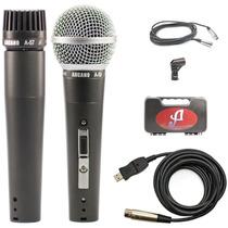 Arcano Microfone Para Estúdio Com Cabo Usb Sm 57 Ou 58
