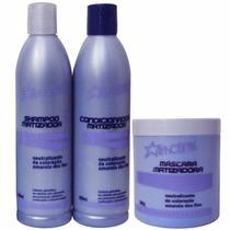 Afrostyle Kit Matizador Shampoo + Condicionador + Máscara