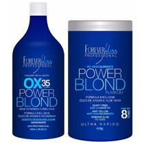 Pó Descolorante Forever Liss + Água Oxigenada Ox Vol 35