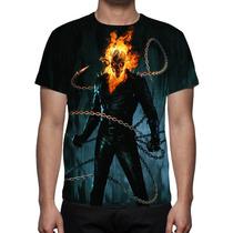 Camisa, Camiseta O Motoqueiro Fantasma Mod 02- Estampa Total