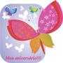 40 Convites De Aniversário Infantil Menina Com Borboleta