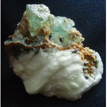 Fluorita-quartzo-azurita-malaquita Irã