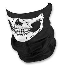 Máscara Cachecol Caveira Skull Motocicleta Paintball Preta