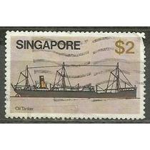 191 Sls- Singapure- Singapura- Lote Com 1 Selo Postal Antigo