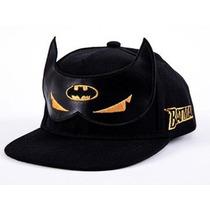 Boné Snapback Batman Aba Reta Infantil De 3 A 6 Anos - 54 Cm