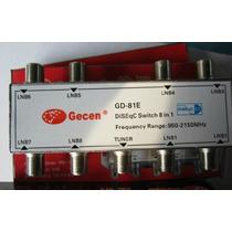 Diseqc 8x1 Gecen Gd-81e V1.1 - Pronta Entrega - Sulacap - Rj