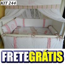 Kit Berço Personalizado 10pç Gêmeos Rosa Ou Azul