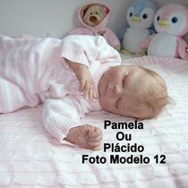 Boneca Bebê Reborn Pamela Ou Plácido Parece Um Bebê Real