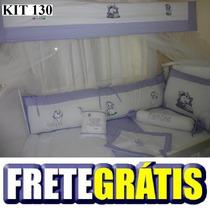 Kit Berço Personalizado 10 Pçs Gata Marie - Lilás