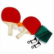 Jogo De Ping Pong Completo Tênis Mesa 2 Raquetes 3 Bolinhas