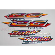 Adesivo Faixa Moto Honda Cg Titan 125 Verde 98