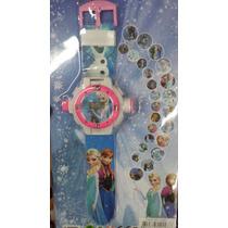 Relogio Projetor Frozen 24 Imagens Princesas Hello Kit