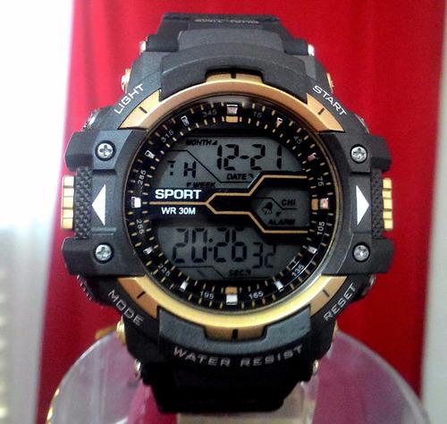 b7895bc7f5a Relógio Masculino Digital Militar Anti Shock Anúncio 1155
