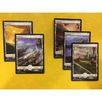 Pack Com 5 Terrenos(planície) Full Art Battle For Zendikar