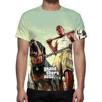 Camisa, Camiseta Game Gta 5 V Mod 02 - Estampa Total