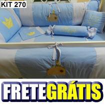 Kit Berço Personalizado 10pçs Pequeno Príncipe Azul