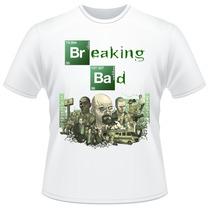 Camiseta Breaking Bad Branca Heisenberg Camisa Frente Verso