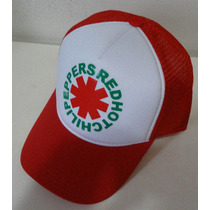 Bone Red Hot Chili Peppers Rhcp Trucker Tela Americano