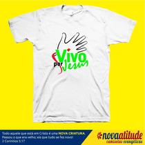 Camiseta Gospel Vivo Por Jesus
