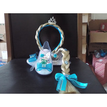 Sapato Sandalia Sapatilha Elsa Frozen C Trança Personalizada