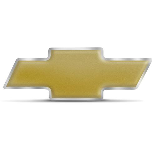 Emblema Resinado Chevrolet Dourado Fosco Universal