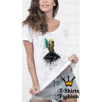 Gaga Com Drink Camiseta T-shirts Fashion Abstrato