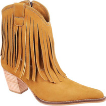 Bota Feminina Franja Country Texana Rodeo Capelli Ref:3090