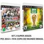 Pes 2014 + Fifa Copa Do Mundo Brasil 14 - Ps3 - Midia Fisica