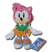 Plush Sonic The Hedgehog Amy 8-inch Boneca Ge7053